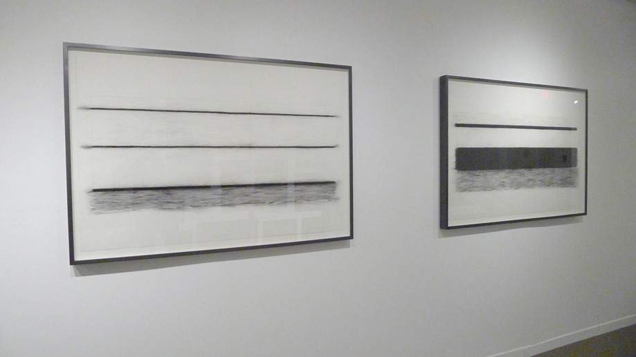 Lyn Carter, Drawing #5 and #6 (Stand) (2015) Charcoal on paper